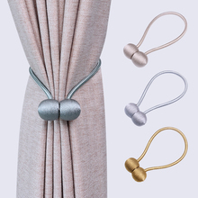 Tieback-Buckle-Clips Curtain-Accessories Hanging-Ball Home-Decor Magnetic Straps