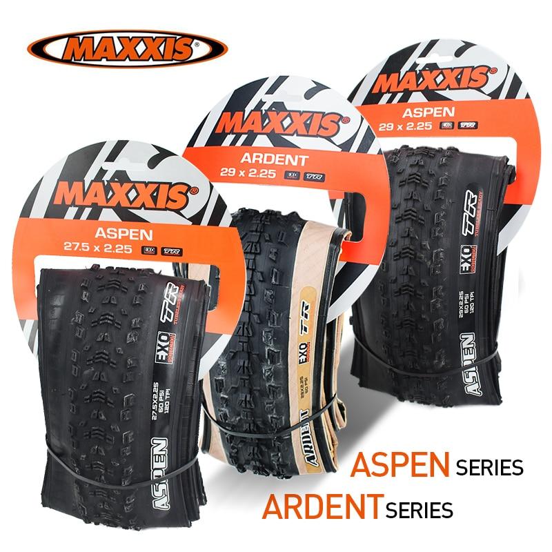 Maxxis 26 tubeless mountain bike bicicleta pneu 26*2.25 27.5*2.25 27.5*2.4 29*2.25/2.4 ardent/aspen ultraleve mtb tr pneu de bicicleta