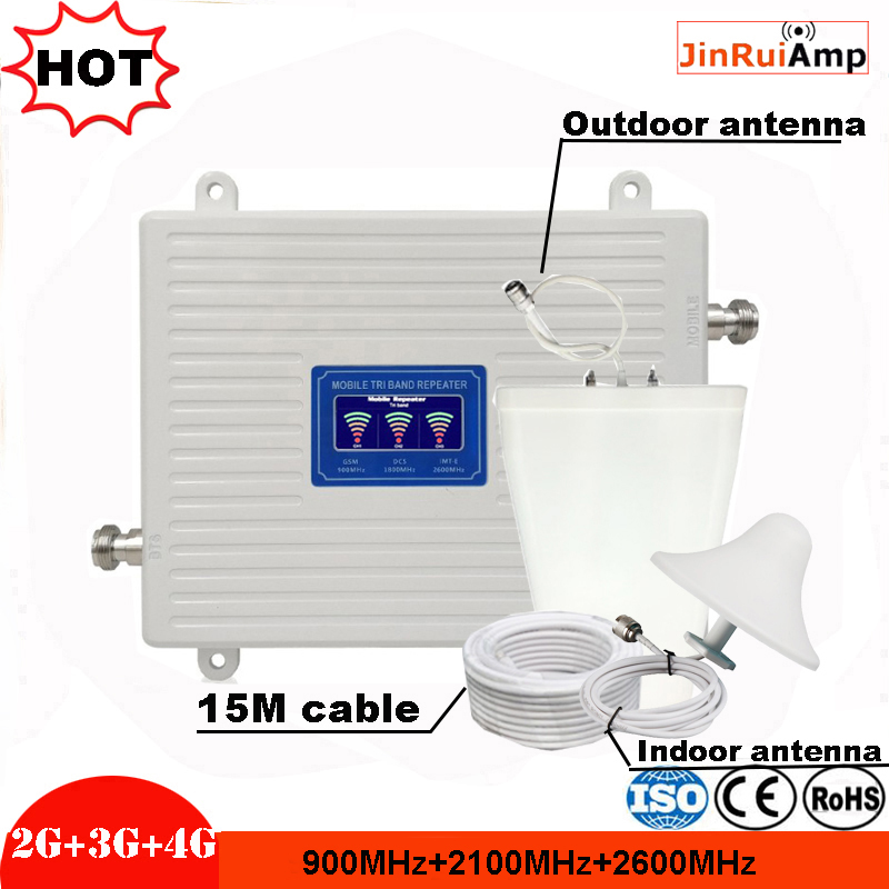 2G 3G 4G GSM 900 WCDMA LTE 2600 Cellular Signal Booster GSM Repeater 3G 4G LTE Repeater 900 2100 2600 Mobile Signal Amplifier