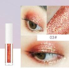 Стойкие яркие эффекты для макияжа, блестящие тени для век, жидкий макияж для глаз, косметика, блестящая жидкая тени для век