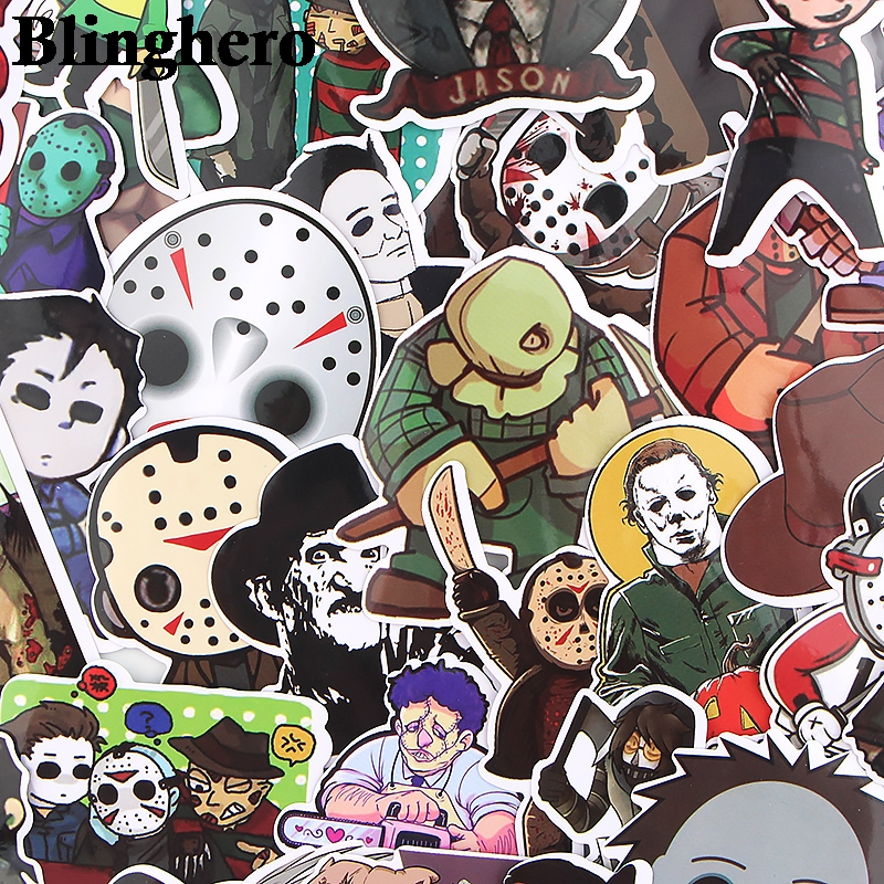 CA498 35pcs/set Friday The 13th Four Killers Stickers Horror Movie Stickers Phone Stickers Album Decals Stickers Collection Gift