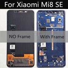 "5.88 ""amoled液晶xiaomi mi8 se lcdディスプレイタッチスクリーンデジタイザアセンブリの交換xioami mi8 se mi 8SE mI8SE液晶"