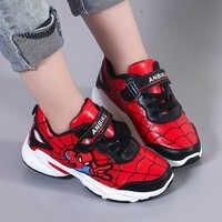 Mode Jungen Sport Schuhe Spiderman Wasserdichte Leder Atmungsaktivem Mesh Casual Kinder Schuhe Mädchen Turnschuhe Kinder Laufschuhe