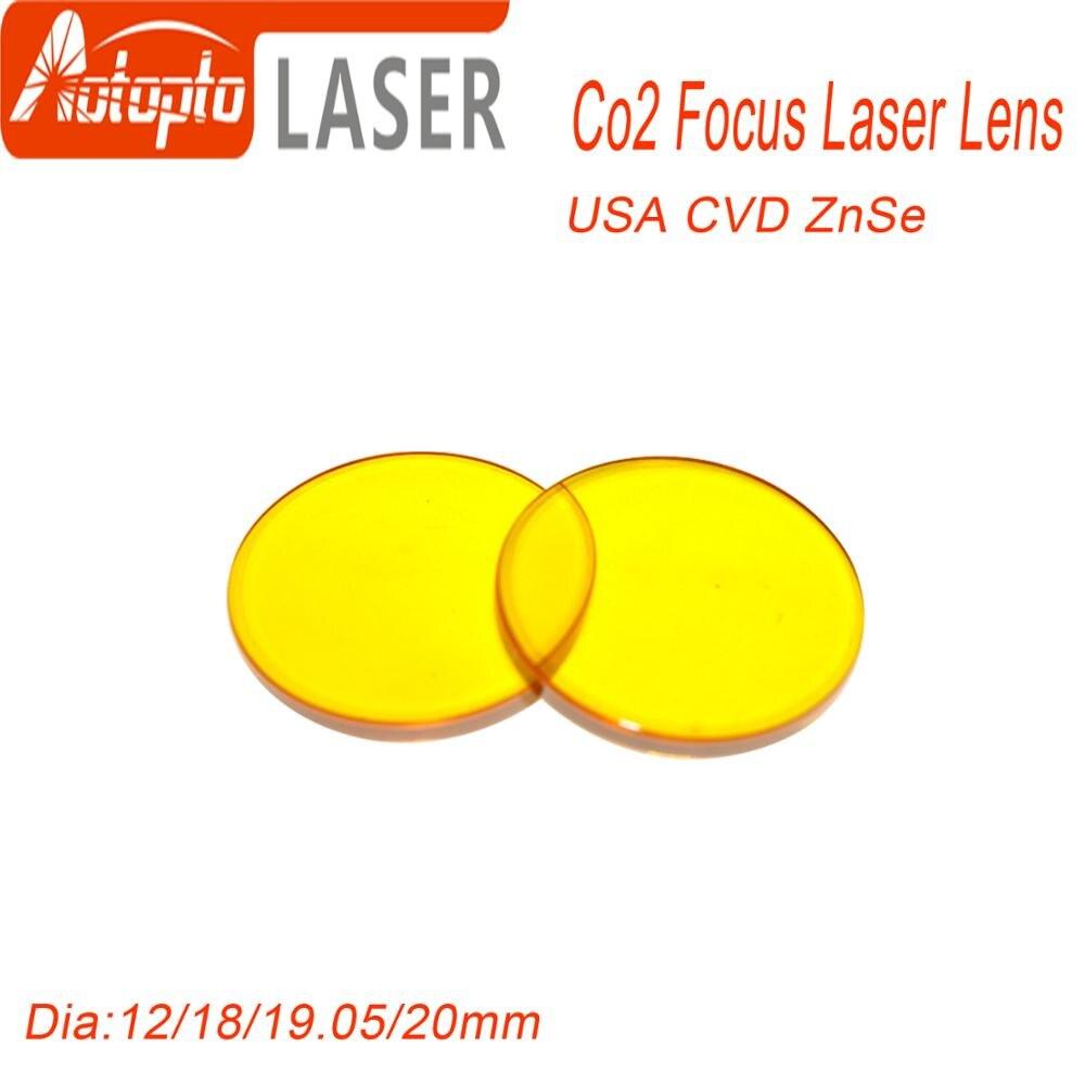 USA CVD ZnSe CO2 Laser Focus Lens Dia.18 19.05 20mm FL 38.1 50.8 63.5 76.2 101.6 127mm
