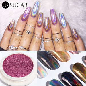Holographics Nail Glitter Powder Shining Laser Nail Art Chrome Pigment Dust Mirror Effect Gradient Glitters Nail Art Decoration