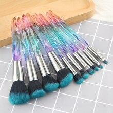 10 pcs Hot Styles 2019 Makeup Brush Powder Blush Foundation Brush Cosmetic Tool  Crystal Handle Brush Make up Brush Kits
