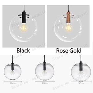 Image 3 - BLUBBLE Wonderland Rosa moderna colgante de bola de cristal transparente dorado lámpara de mano lustre LED bola de vidrio Bar cocina de alta calidad