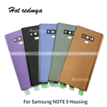 For Samsung Galaxy Note9 Note 9 N9600 SM-N960F Phone Rear Battery Door Glass Housing Back Cover Cases+Camera Lens with Tools