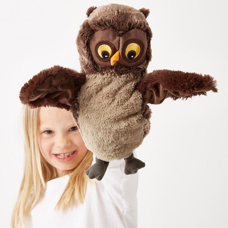 plush toy stuffed doll cartoon animal owl bird puppet baby bedtime stoy friend christmas present birthday gift 1pc