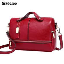 Gradosoo Luxury Handbags Women Famous Brand Messenger Bags Leather Fashion Shoulder Crossbody Female Tote LBF626