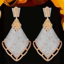GODKI Luxury Brand Shiny Noble Dangle Earrings For Women Wedding Cubic Zirconia CZ DUBAI Bridal Earring Jewelry Accessories2020