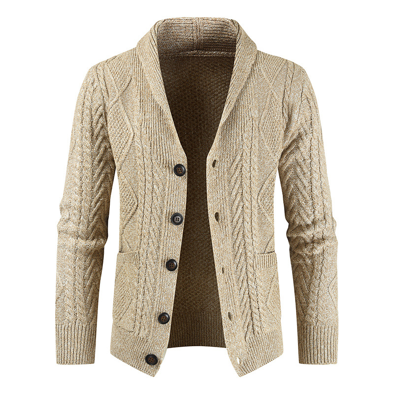 2020 New Winter Warm Men Brand Casual Slim Fit Male Sweaters Cardigan Horns Thick Sweater Fashion Button Top Coat Dropshipping
