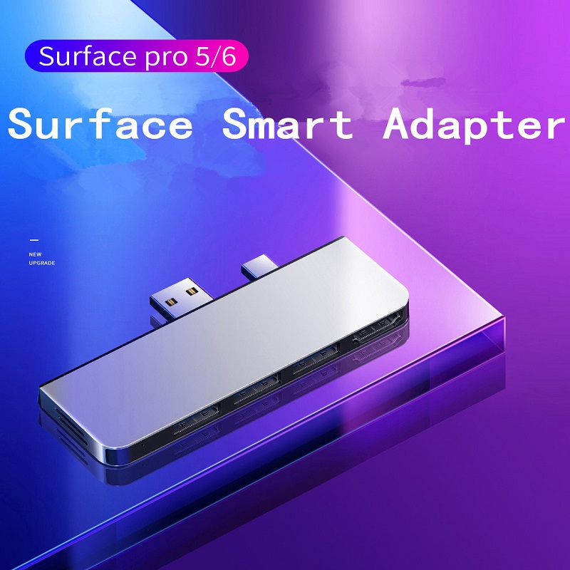 Microsoft Surface Pro 4/Pro 5/Pro 6/Pro 7 USB 3.0 Hub HDMI 4K 1000Mb Gigabit Ethernet Adapter SD / TF Micro SD Card Reader