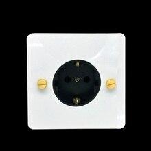 LIWBET Standard UE Presa di corrente E di Colore Bianco Presa Pannello In Acciaio Inox