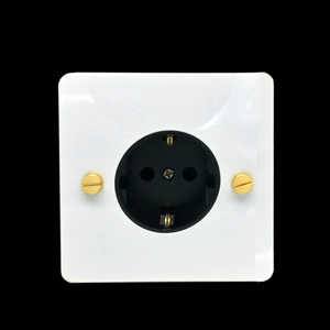 Image 1 - LIWBET ab standart duvar soket ve beyaz renk paslanmaz çelik Panel soketi