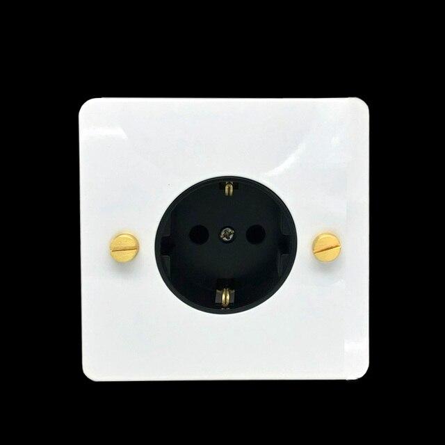 LIWBET ab standart duvar soket ve beyaz renk paslanmaz çelik Panel soketi