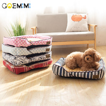 All Season Pet Dog Bed Soft  Puppy Cat House Nest Summer Cooling Rattan Mat Products dog beds for medium dogs