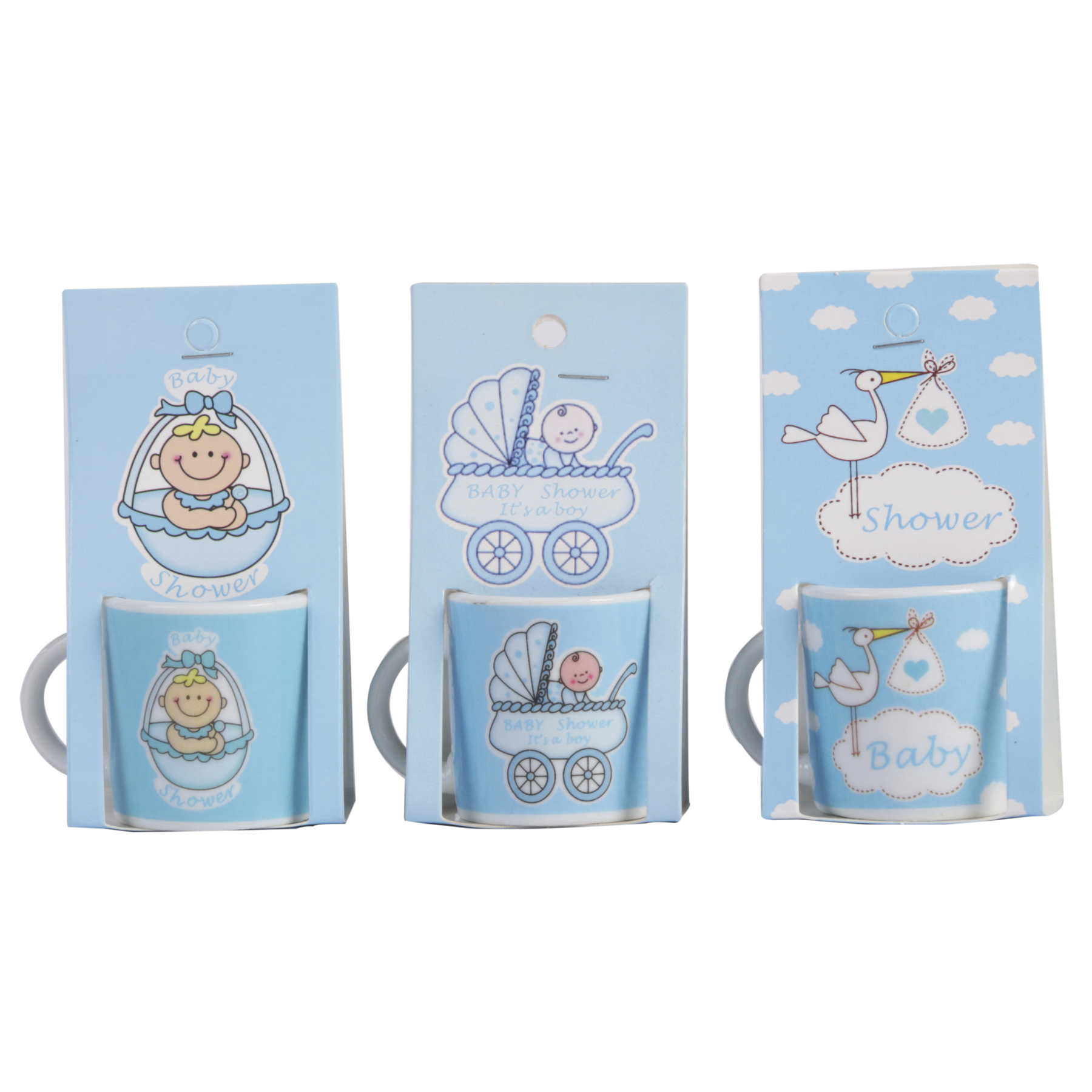 Lot Of 10 Cups Christening BLUE CHILD Small In Blister Gift-Details And Gifts For Memories Baptisms, Birthday
