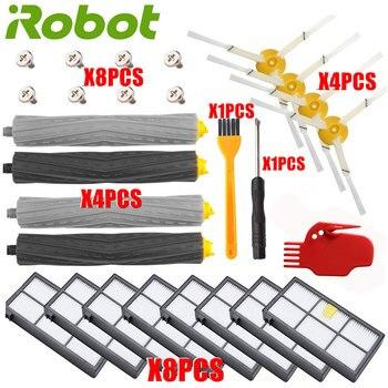 Zestaw uzupełniający do iRobot Roomba 805 860 870 871 880 890 960 980 akcesoria próżniowe, części ekstraktory filtry szczotki boczne