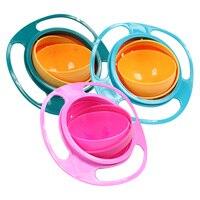 Universal giroscópio tigela design prático crianças equilíbrio rotativo novidade giroscópio guarda-chuva 360 girar à prova de derramamento sólido pratos de alimentação