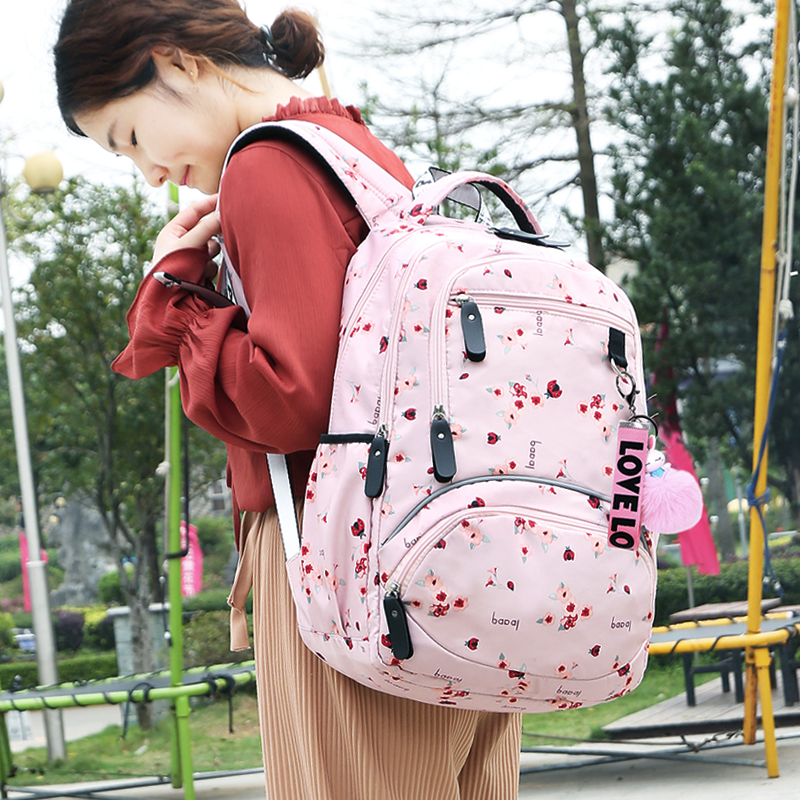 2019 New Large Schoolbag Cute Student School Backpack Printed Waterproof Bagpack Primary School Book Bags For Teenage Girls Kids