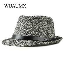 Wuaumx весенне летняя фетровая шляпа Женская Англия Ретро Топ