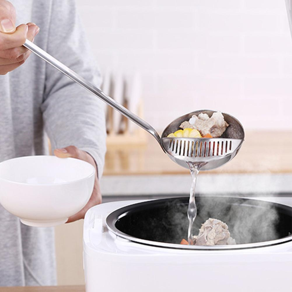 Detachable Stainless Steel Hot Pot Soup Spoon Cooking Spoon Strainer Colander S
