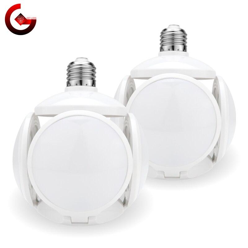 LED ampoule pliante 40W E27 Football UFO ampoule lampe 360 degrés AC 85-265V 110V 220V Lampada LED lumière de projecteur blanc froid/chaud