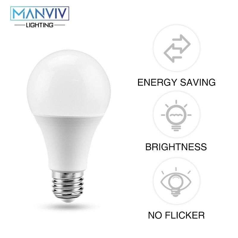 No Flicker LED Bulbs 3W 6W 9W 12W 15W 18W 22W 220V Smart IC E27 LED Lamp Light For Table Lamp Spotlight Lampada Home Lighting