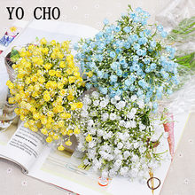 YO CHO Fake Wedding Flowers Bridal Bouquet Babysbreath Wedding Bouquet for Bridesmaid Artificial Flower Marriage Home Decoration(China)