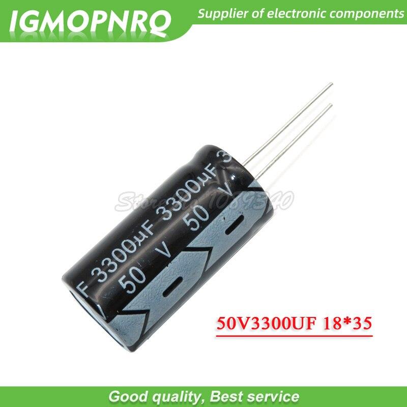 5PCS 50V3300UF 18*35mm 3300UF 50V 16*35 Aluminum Electrolytic Capacitor