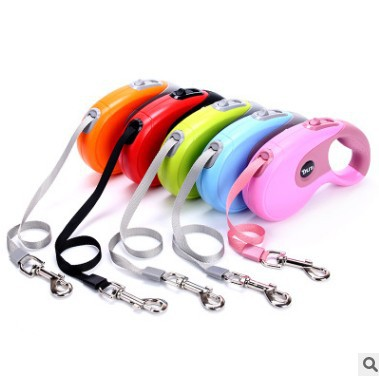 Pet Automatic Flexible Tractor 3m5m Thai Bag Plastic Dog Hand Holding Rope Dog Rope Traction Belt