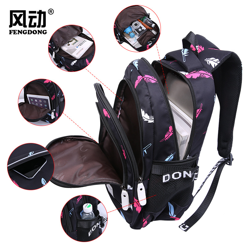 The new 2019 women 39 s backpack high school students high school student schoolbag waterproof printing travel bag bulk bag in Backpacks from Luggage amp Bags