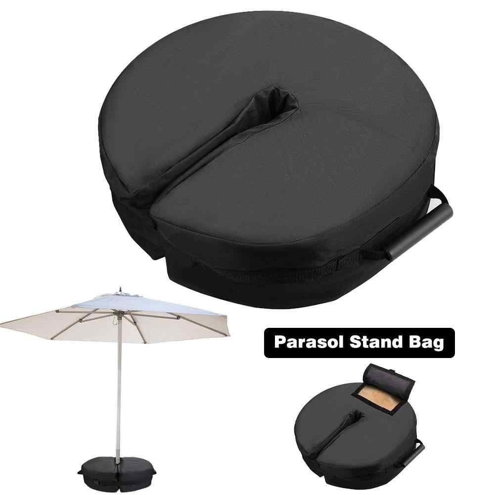 Ombrello Base Peso Portatile Borsa Staccabile Rotondo Ombrellone Peso Bag Stand Per Outdoor Patio Nero