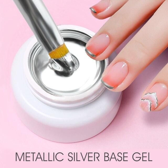 Sliver Gel Base Metal Effect Line Gel Soak Off Led Glass Transparent Colors Gel Polish 5g Cheap Nail Venalisa UV Gel 1