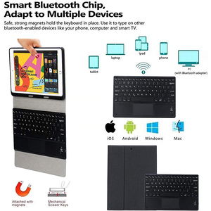 Image 3 - Bluetooth Keyboard For iPad 2019 10.2 inch Case with Touchpad Keyboard Detachable For iPad 7th Generation Keyboard Pencil Holder