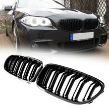 Samger שמאל/ימין 5 סדרת F10 גריל כליות מבריק שחור כליות קדמי גריל עבור BMW 5 סדרת F10 F11 f18 2009 2013