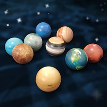 9pcs Color Printing Sponge Solid Soft Ball Solar System Planet Balls Stress Relief Educational Toys For Kids Bouncy Ball