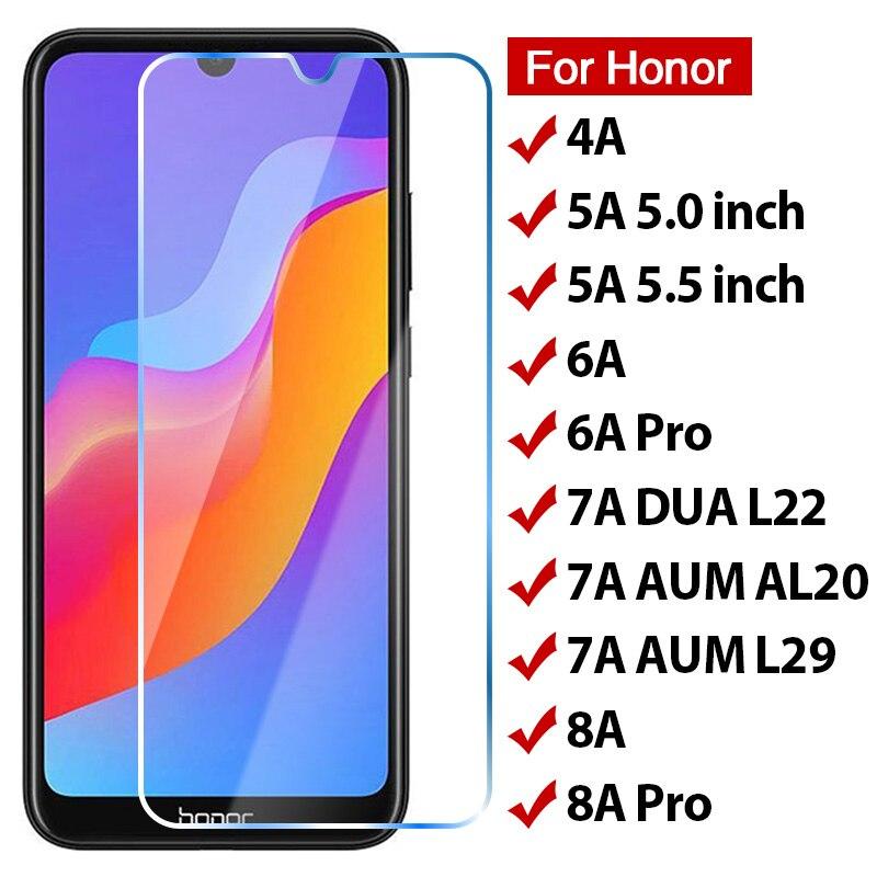 Защита экрана из закаленного стекла для Huawei Honor 7A 9A 9H HD Защитное стекло для телефона на Honor 8A 6A Pro 5A прозрачное стекло для ЕС