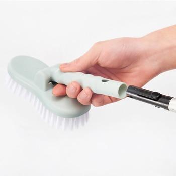 Cepillo de limpieza de inodoro duradero, cepillo de limpieza extraíble para pared de baño, cepillo de limpieza para suelo, mango largo para bañera, herramienta de limpieza de azulejos de ducha K888|Brochas de limpieza|Hogar y jardín -
