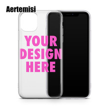 Aertemisi Create Your Own Custom Clear TPU Phone Case Cover for iPhone 5 5s SE 6 6s 7 8 Plus X Xs XR Max 11 Pro Max