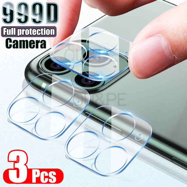 3PCS Camera Lens Tempered Glass For iPhone 11 12 Pro XS Max X XR Screen Protector On For iPhone 11 7 8 6 6S Plus SE Camera Glass 2