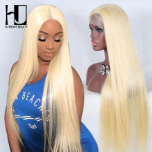 613 Blonde Wig Human Hair Brazilian Straight Lace Front Human Hair Wigs Pre Plucked Wig With Baby Hair Transparent Lace Wigs
