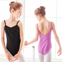 Children Camisole Ballet Dance Leotard Kids Costumes Girls Low Back Gymnastic Bodysuit