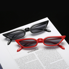 Black Red Frame Sexy Cat Eye Sexy Sunglasses