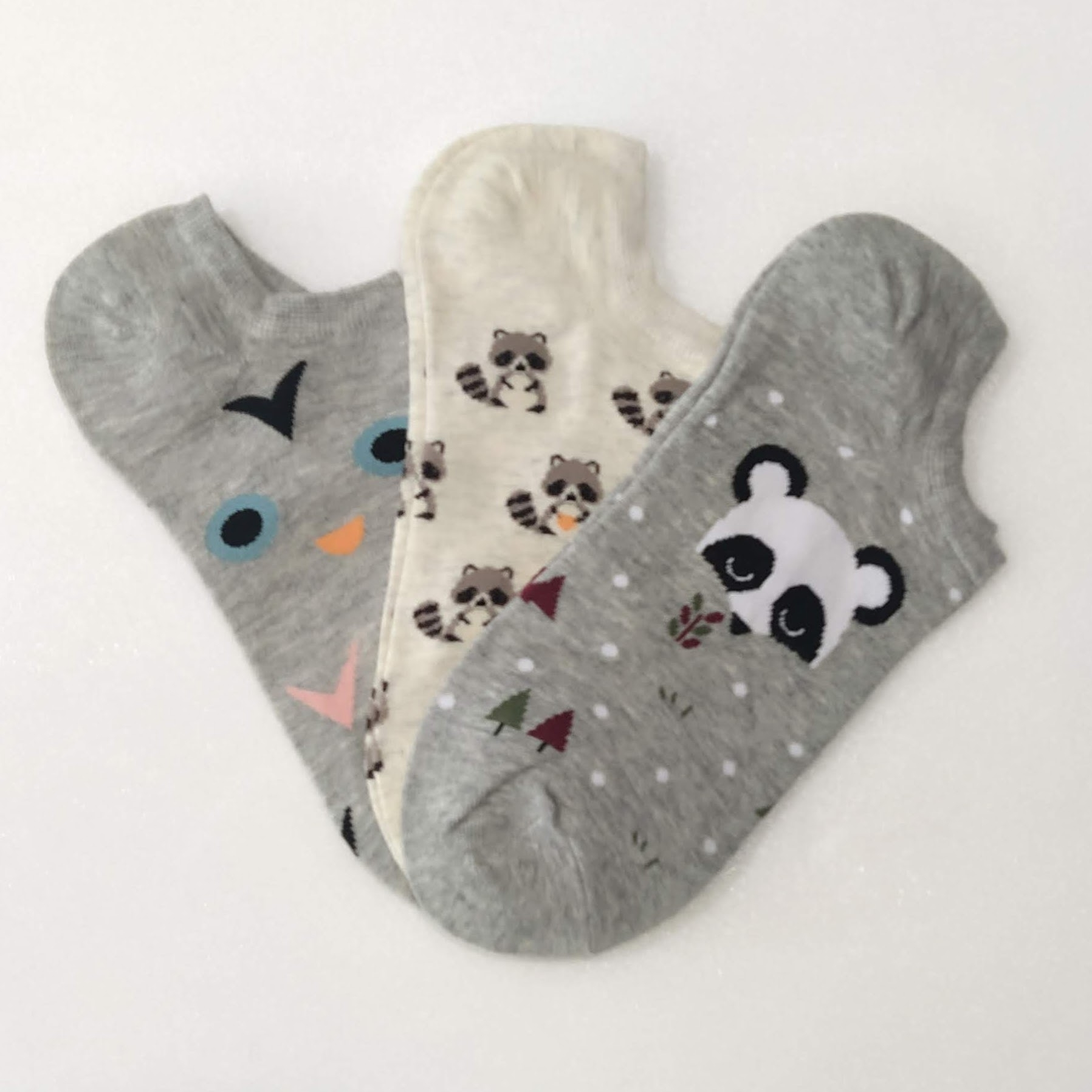 Socks Pack 3x Size 35-41 Funny Gifts Original Drawings Raccoons Panda Bears And Animals From Animals