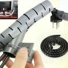 1 метр гибкий спиральный кабель на молнии обертывание кабель аккуратный держатель Органайзер провод шнур управление протектор хранения трубы сматывание кабеля