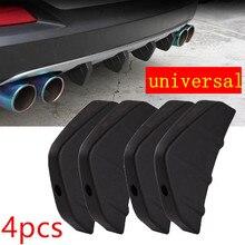 цена на car accessories 4 X Car Rear Bumper Spoiler Canard Rear Bumper ABS Lip Diffuser Fin Universal