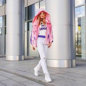 Image 3 - Donna in mode laine chaude neige bottes plate forme côté Zip à lacets bottes en cuir véritable bottes 2020 automne hiver chaussures noir blanc