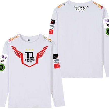 Men Cotton Printed Sweatshirts LOL Skt T1 Team Faker Unifrom Hoodies Coat Loose Pullovers Streetwear Big Size Fashion Brand